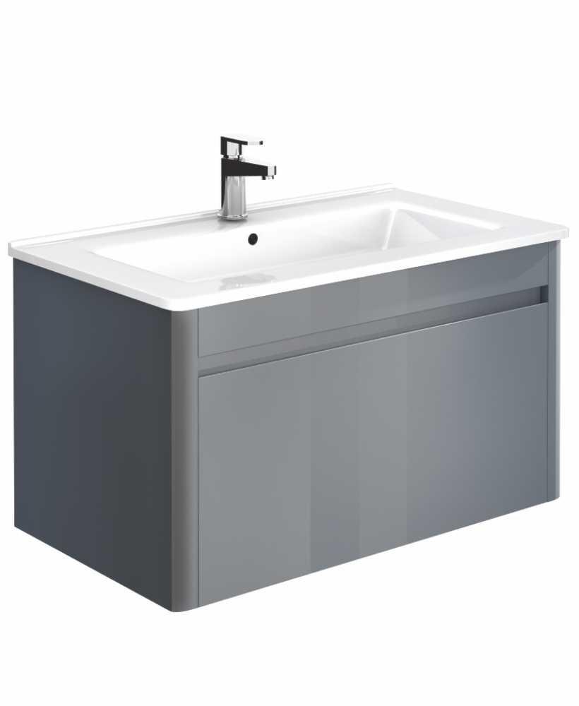 Ella 80cm Anthracite Vanity Unit and Basin