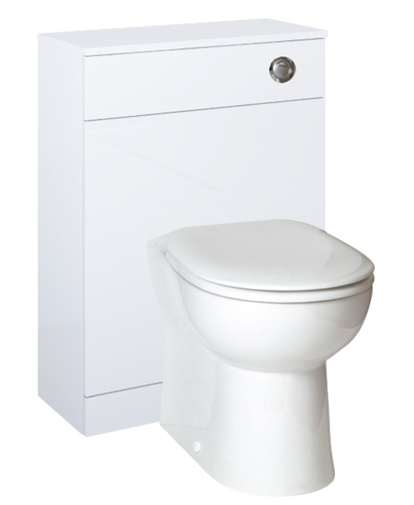 Otto Plus White  Back to Wall Slimline Unit with Concealed Cistern