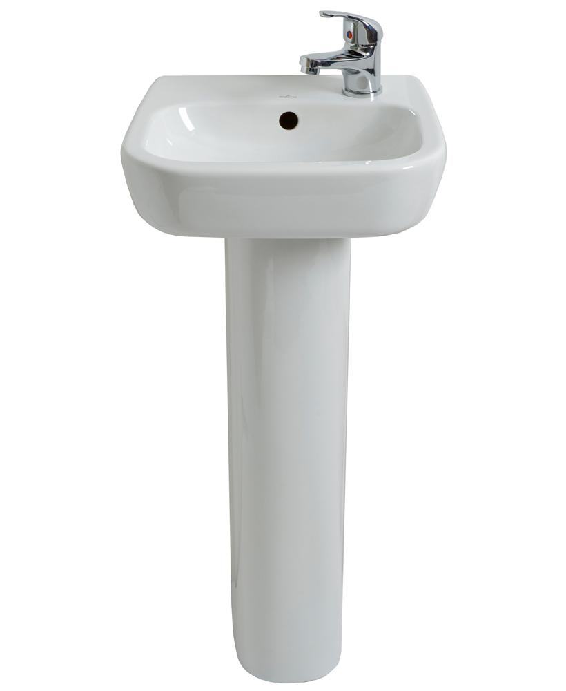 Facile 40cm Handrinse Basin RH & Pedestal