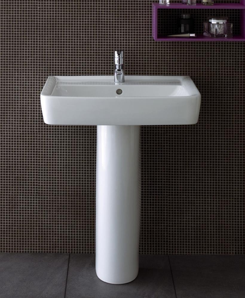 Twyford Galerie Plan Basin 60cm with Pedestal