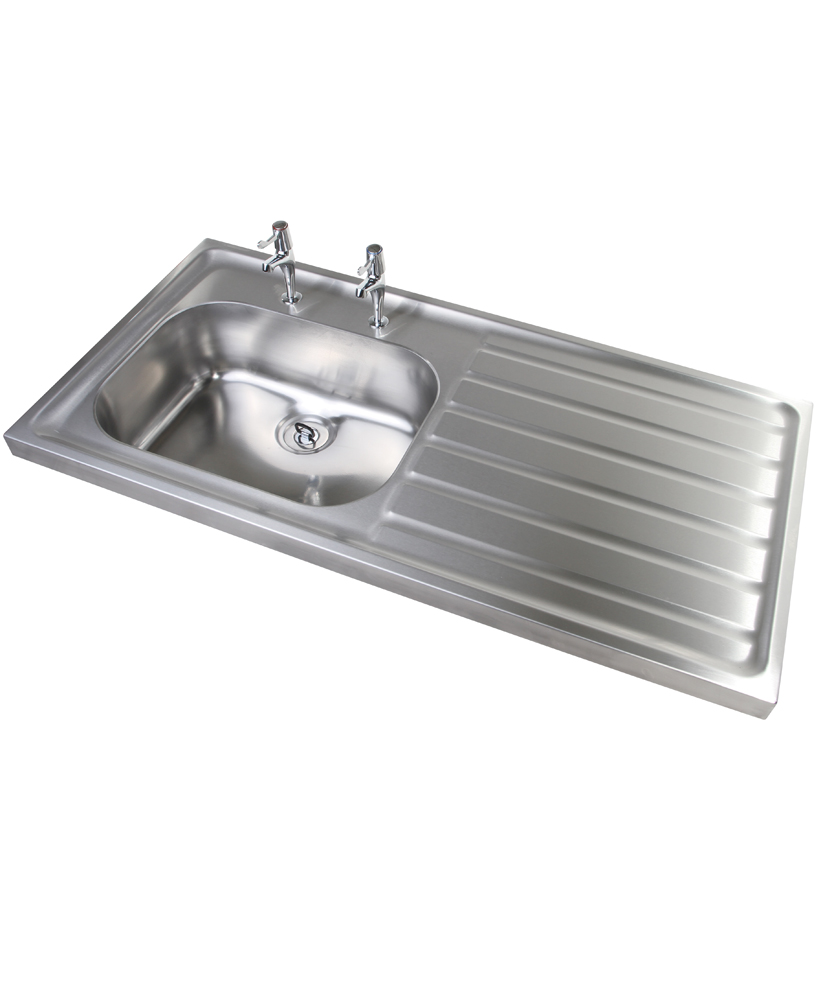 Jersey HTM64 Sit-on Sink 1000x600mm Single Bowl & Left Hand Drainer