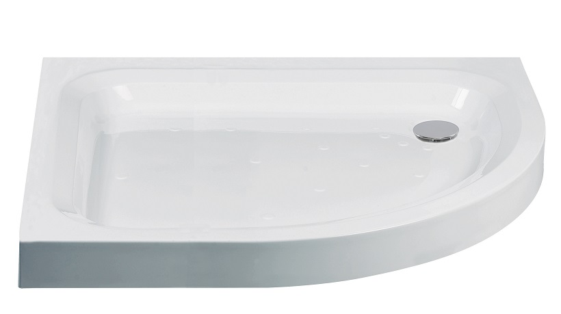 JT Ultracast 900x800 Offset Quadrant Shower Tray RH