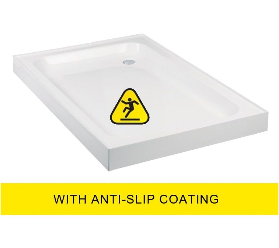 JT Ultracast  1000x800 Rectangle Upstand Shower Tray - Anti Slip