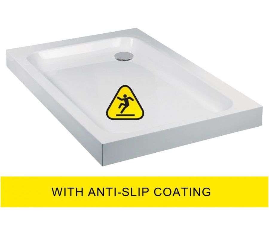 JT Ultracast 1000x800 Rectangle Shower Tray - Anti Slip