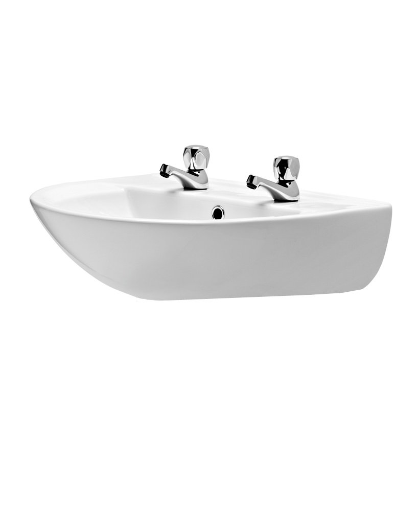 President 550 Washbasin 2 Tap Hole