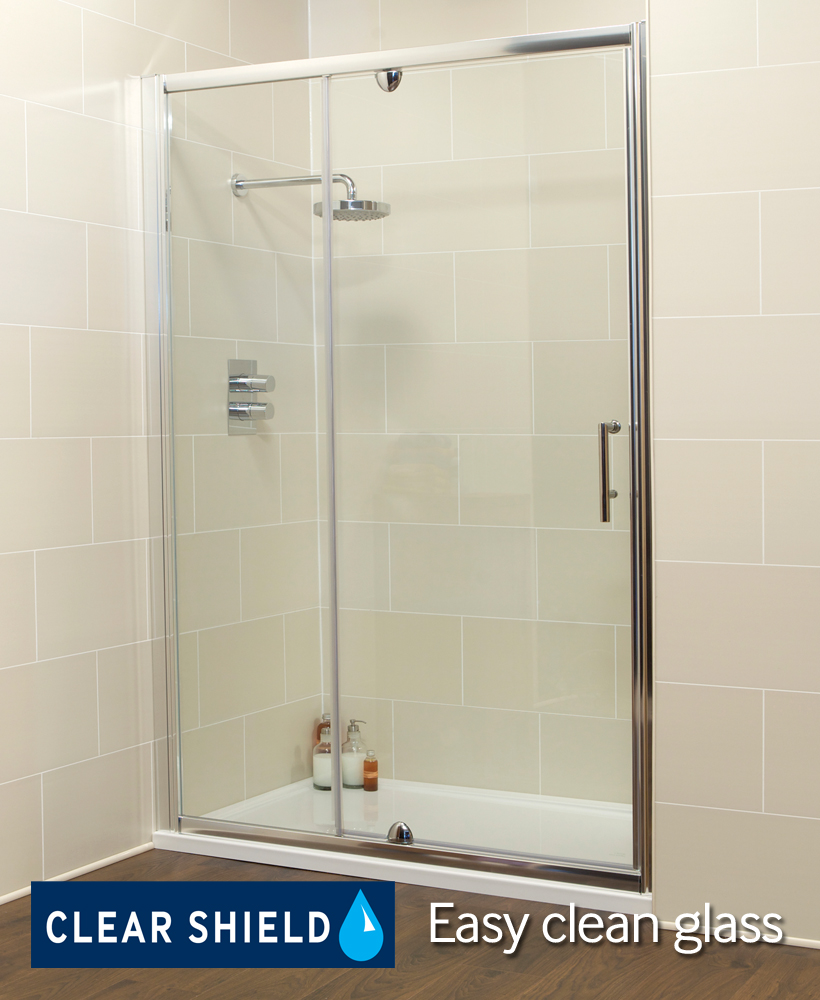 K2 1200 Pivot Shower Door & Inline Shower Enclosure - Adjustment 1160-1220mm