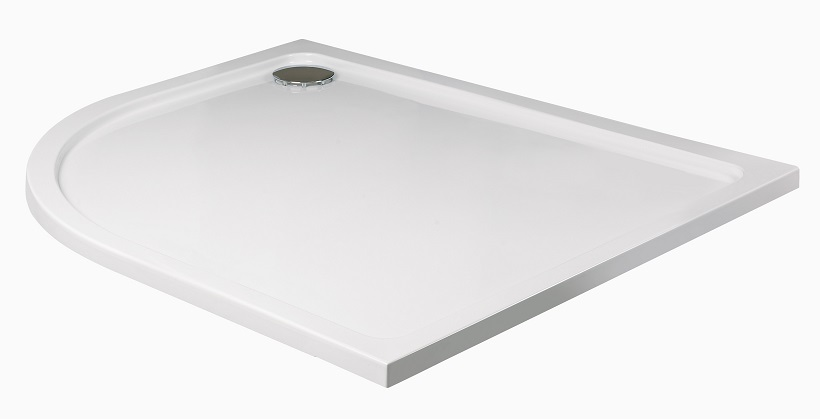 Kristal Low Profile 1200x800 Offset Quadrant Shower Tray LH with FREE shower waste