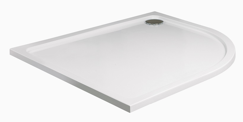 Kristal Low Profile 1200x800 Offset Quadrant Shower Tray RH with FREE shower waste