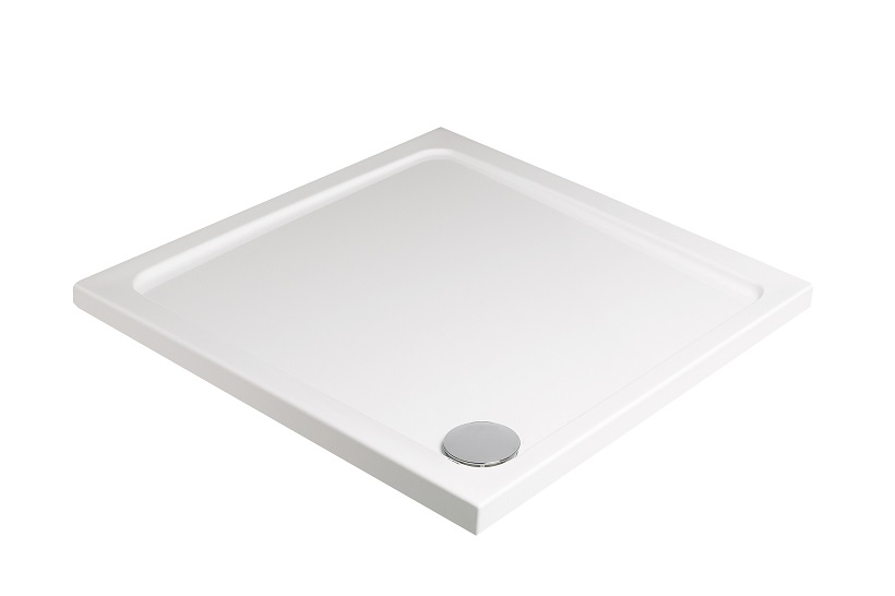 Kristal Low Profile 1000 Square Shower Tray with FREE shower waste