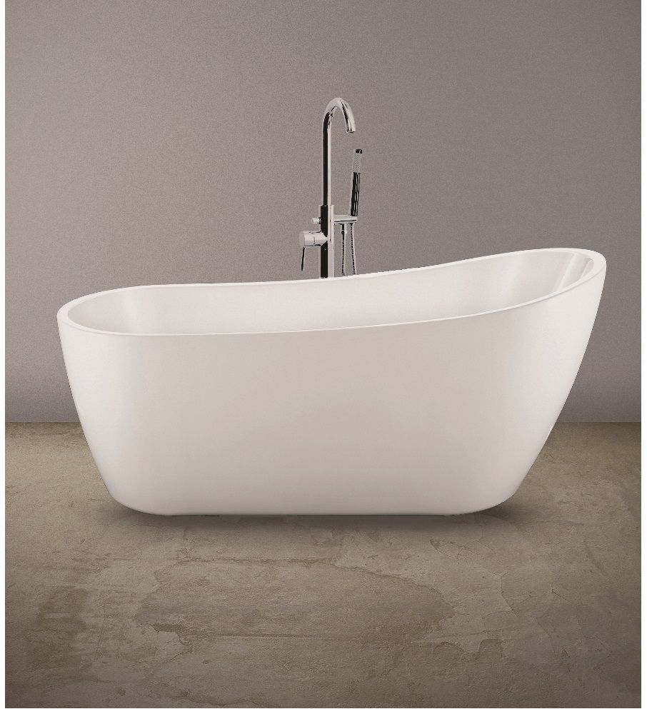Lily Freestanding Bath With Floor Standing Bath Shower Mixer - *Special Offer