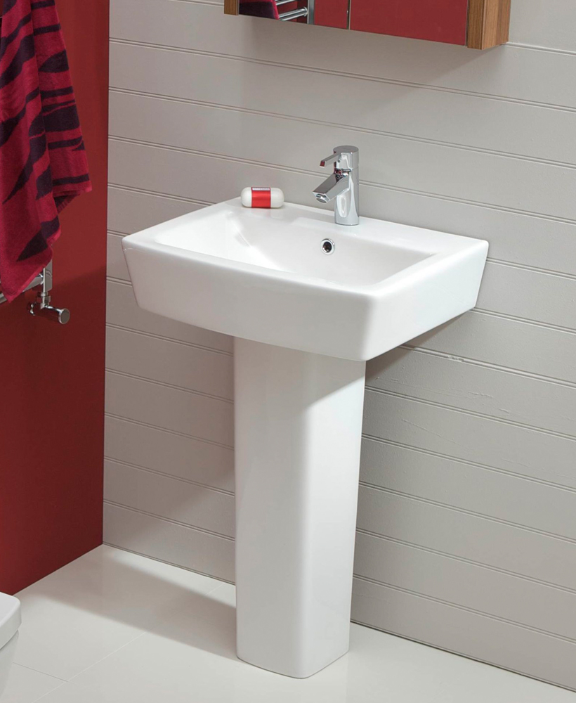 Quadro Basin 55cm & Pedestal