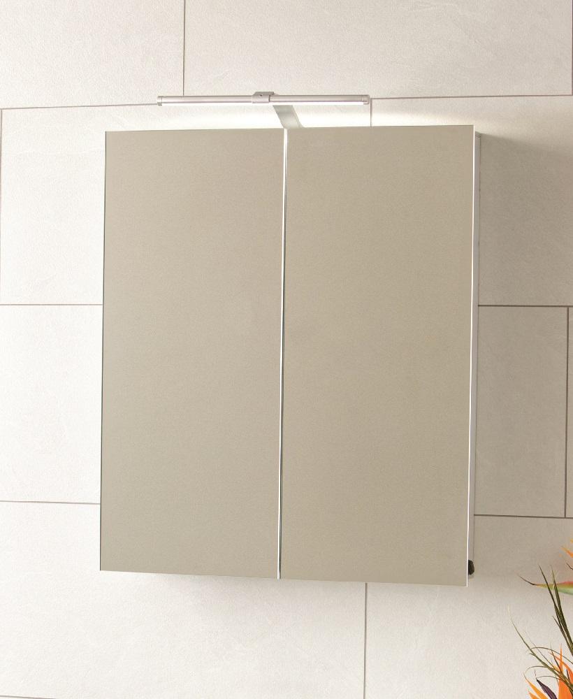 Luxor 2 Door Aluminium Bathroom Cabinet 600 x 700