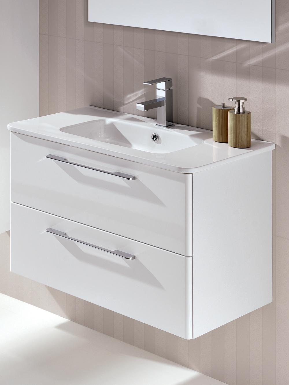 Mara White 80cm Vanity Unit 2 Drawer and Basin