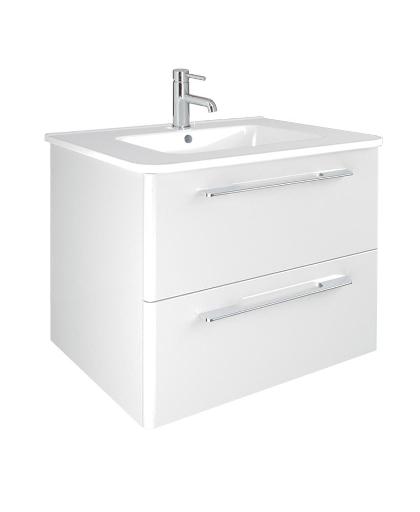 Mara White 60cm Vanity Unit 2 Drawer and Basin