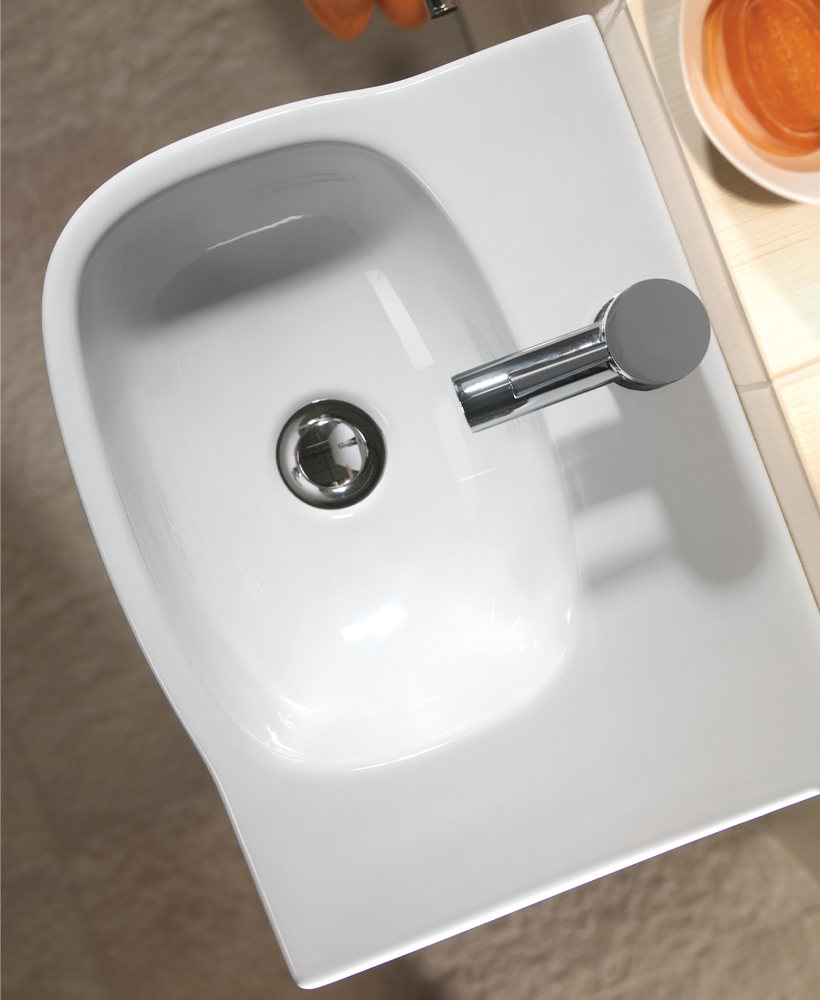 Twyford Moda 45cm Handrinse Basin with Shelf