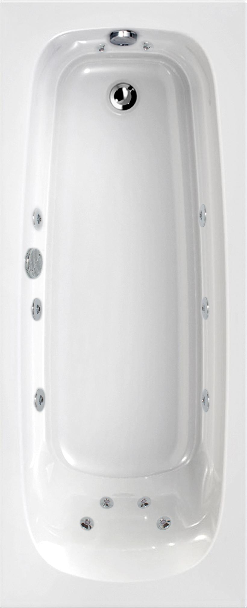 Mercury 1700x700 Single Ended 12 Jet Whirlpool Bath