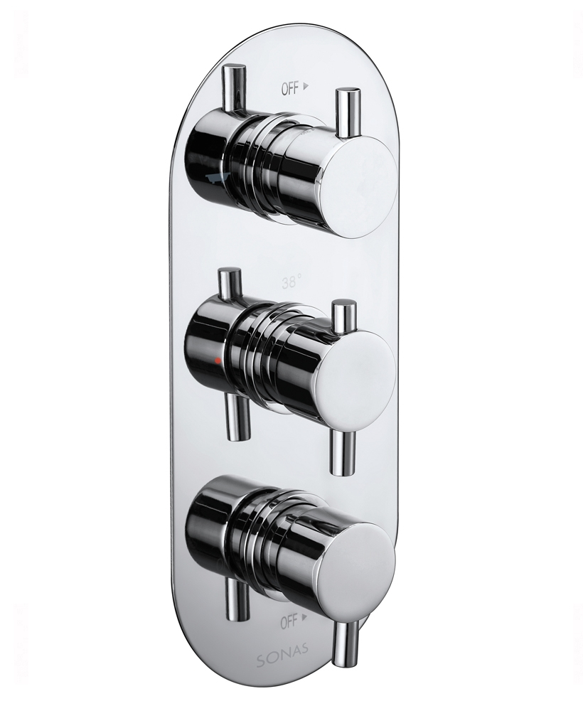 ORION Triple Control Shower Valve with 3-outlet