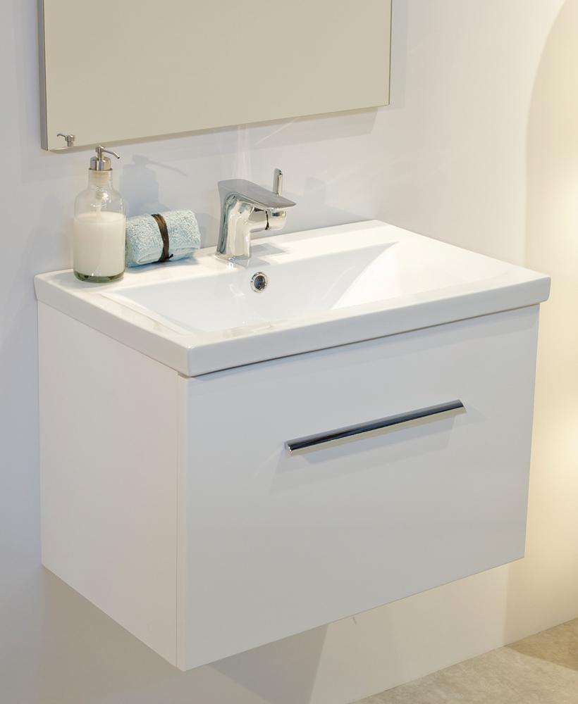 Nova White Slimline 50cm Wall Hung Vanity Unit