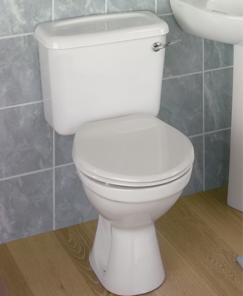 Twyford Option Close Coupled Toilet Lever Flush & Seat