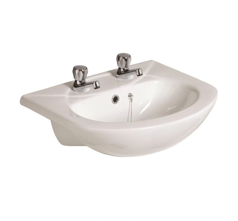 Strata 500 Semi Recessed Basin 2TH
