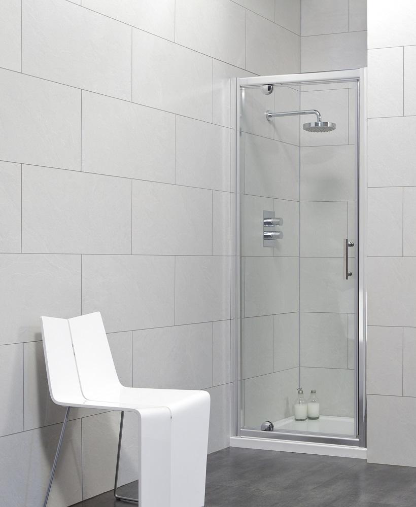 City 900 Pivot Shower Door - Adjustment 840-890mm