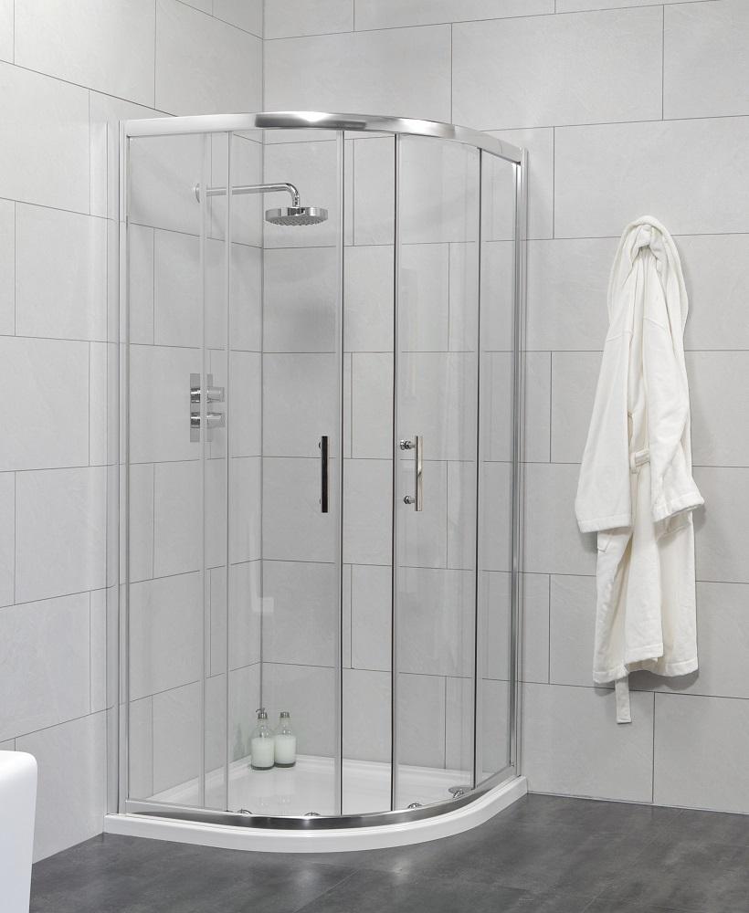 City 900 Quadrant Shower Enclosure -  Adjustment 865-890mm
