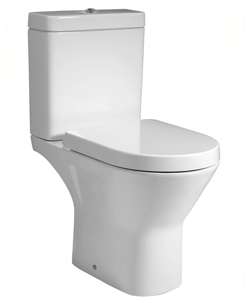 Resort Close Coupled Rimless Toilet & Soft Close Seat