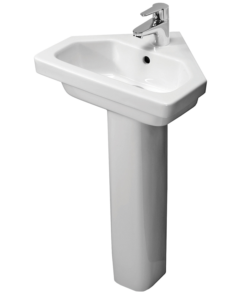 Resort 450 Corner Basin & Standard Height Pedestal