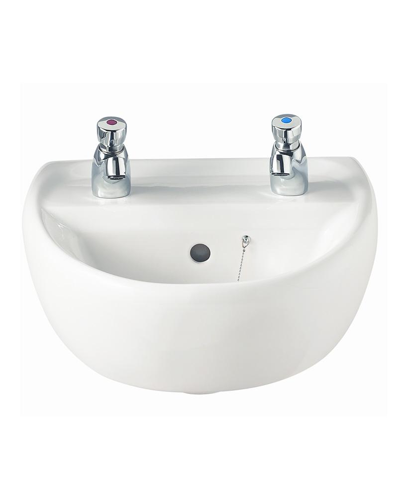 Sola 400 Washbasin 2 Tap Hole