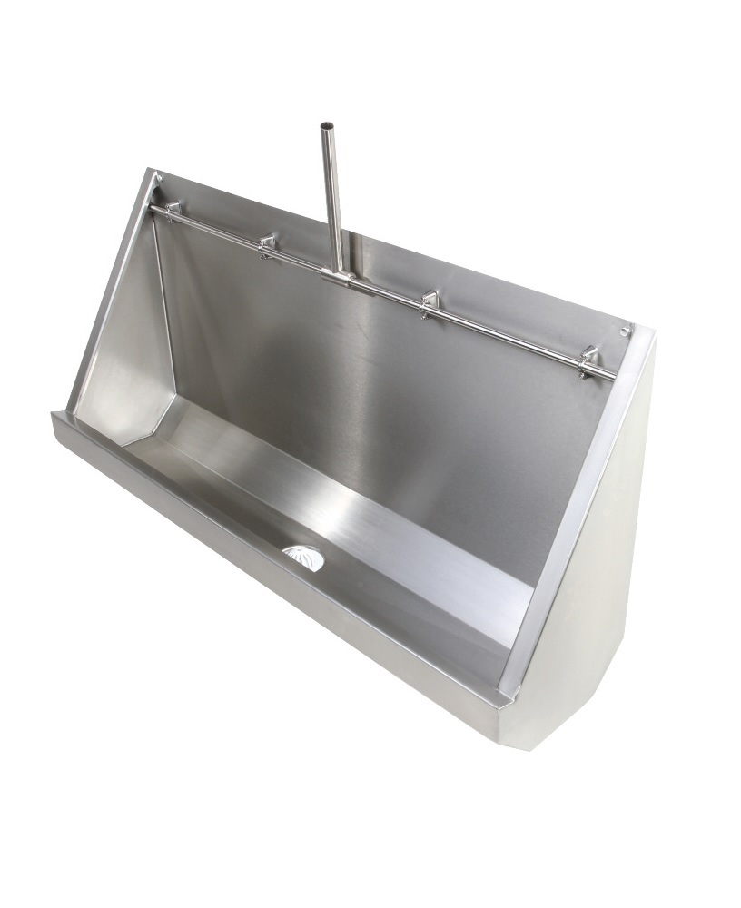 Fife Trough Urinal Exposed Pipework 2400mm RH Outlet