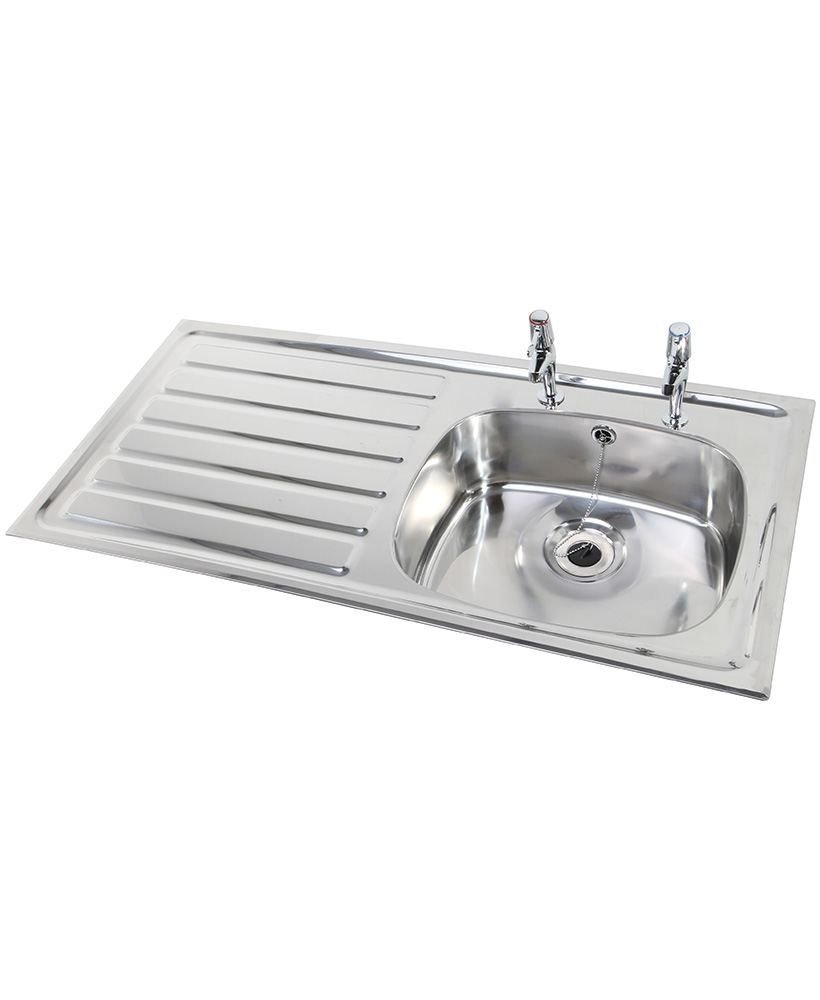 Ibiza HTM64 Inset Hospital Sink 1028x500mm Left hand Drainer