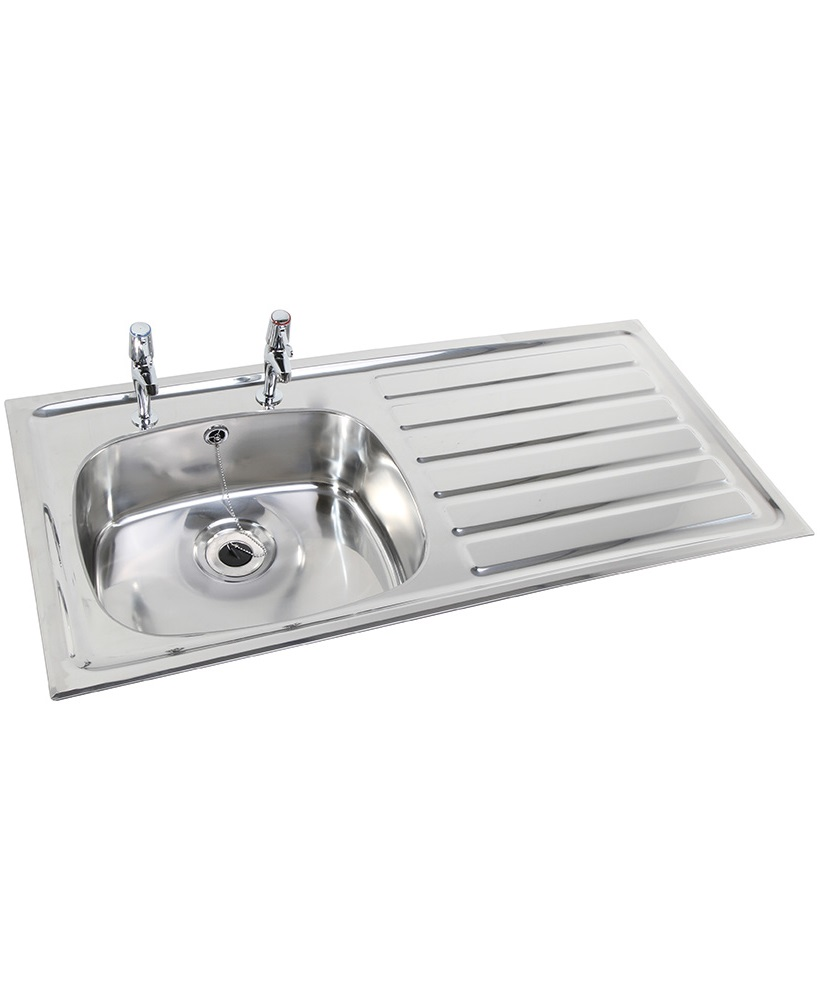 Ibiza HTM64 Inset Hospital Sink 1028x500mm Right hand Drainer