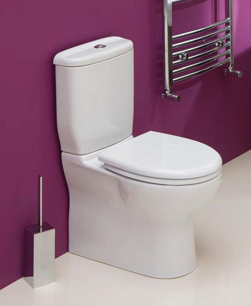 Sedef Close Coupled Toilet & Soft Close Seat - Short Projection 600mm-ECO Flush