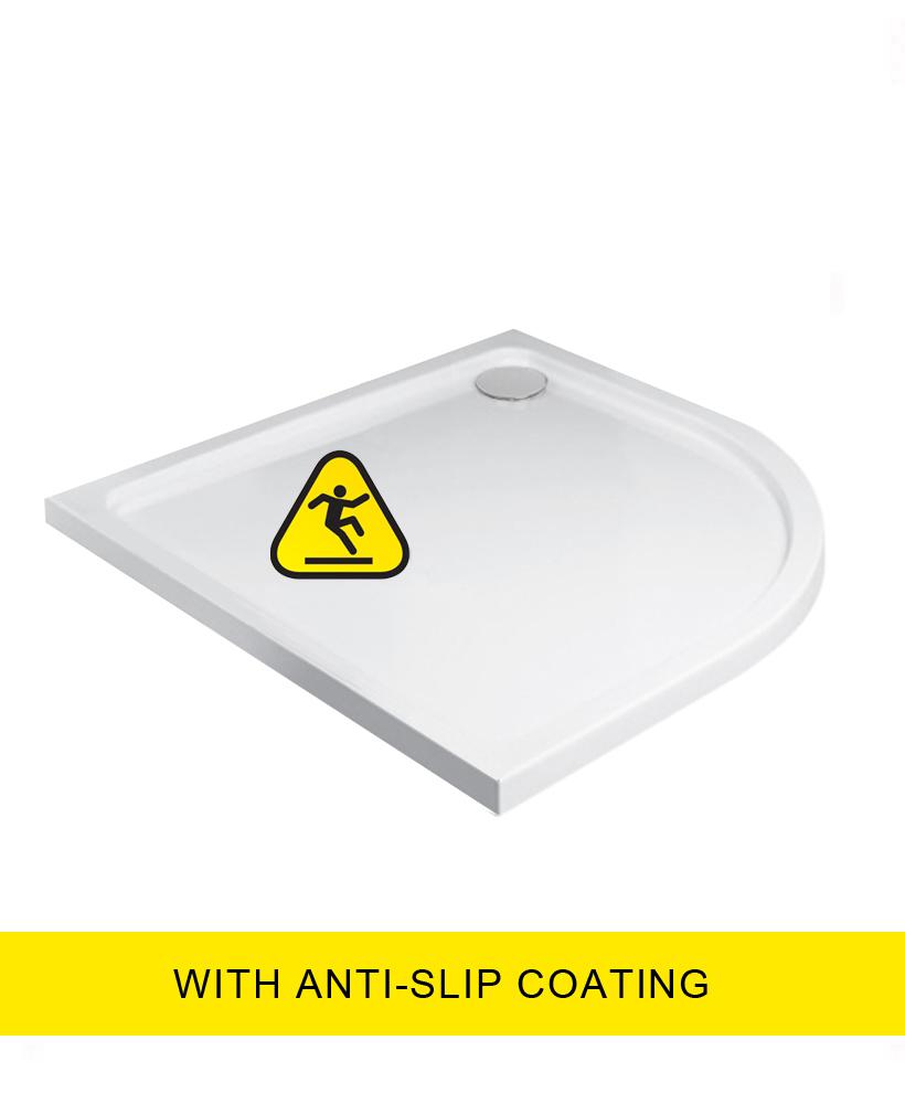 Kristal Low Profile 1000 Quadrant Shower Tray - Anti Slip with FREE shower waste