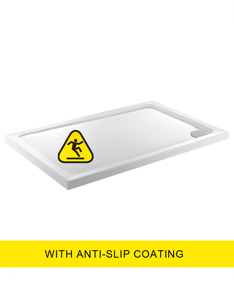 Kristal Low Profile 1500X700 Rectangle Shower Tray - Anti Slip  with FREE shower waste