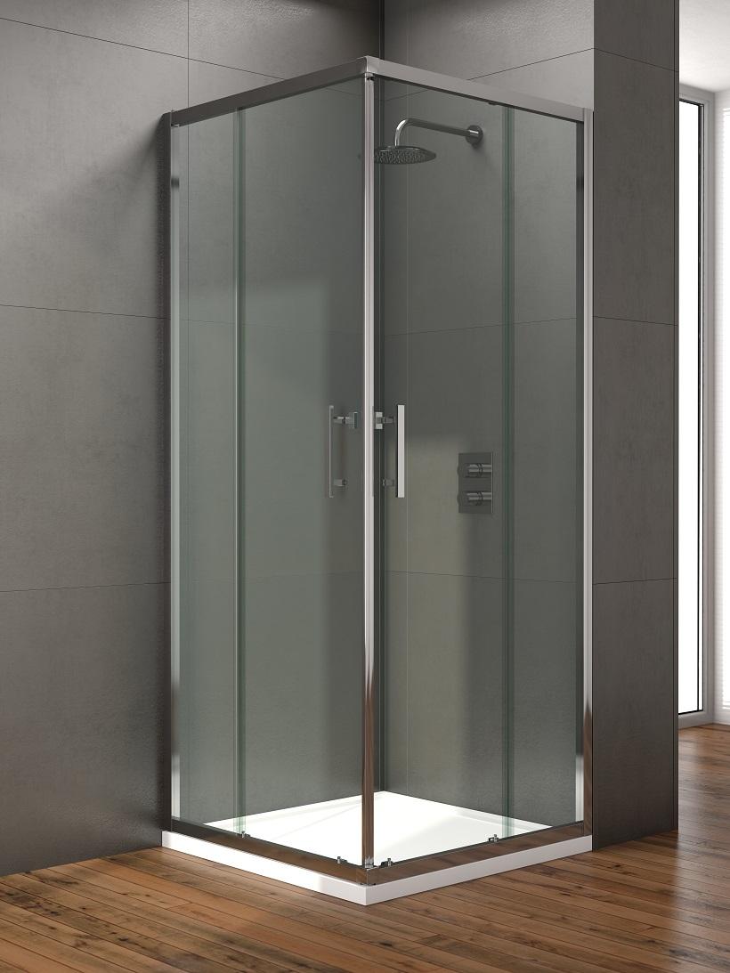 Style 760mm Corner Entry Shower Door - Adjustment 720 - 740mm