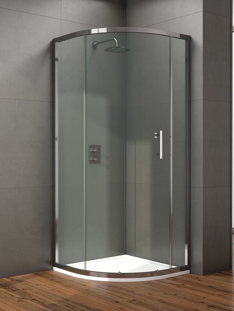 Style 1000mm Single Door Quadrant Enclosure - Adjustment 960 - 980mm