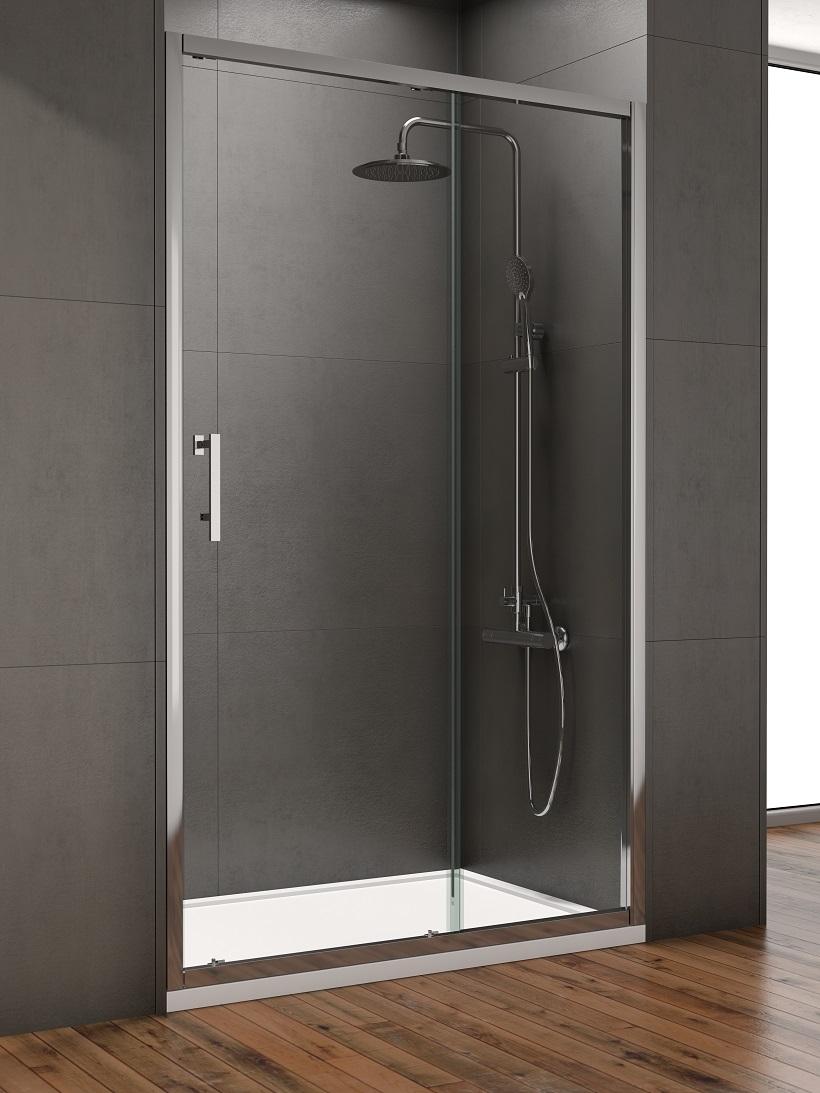 Style 1400mm Sliding Shower Door - Adjustment 1350 - 1390mm