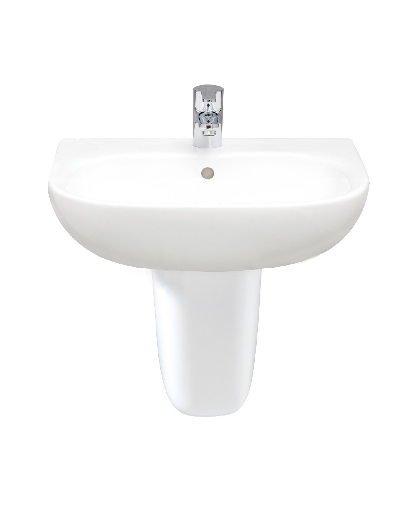 Tonique 55cm Washbasin With Semi Pedestal