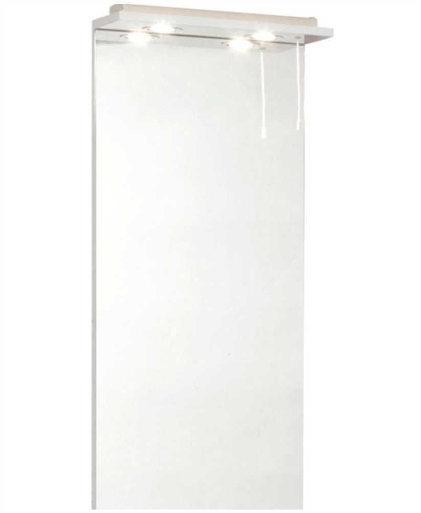 Belmont 40cm White  Mirror with LED Light & Pullcord