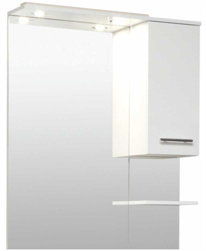Belmont 70cm White  Mirror with LED Light & Pullcord