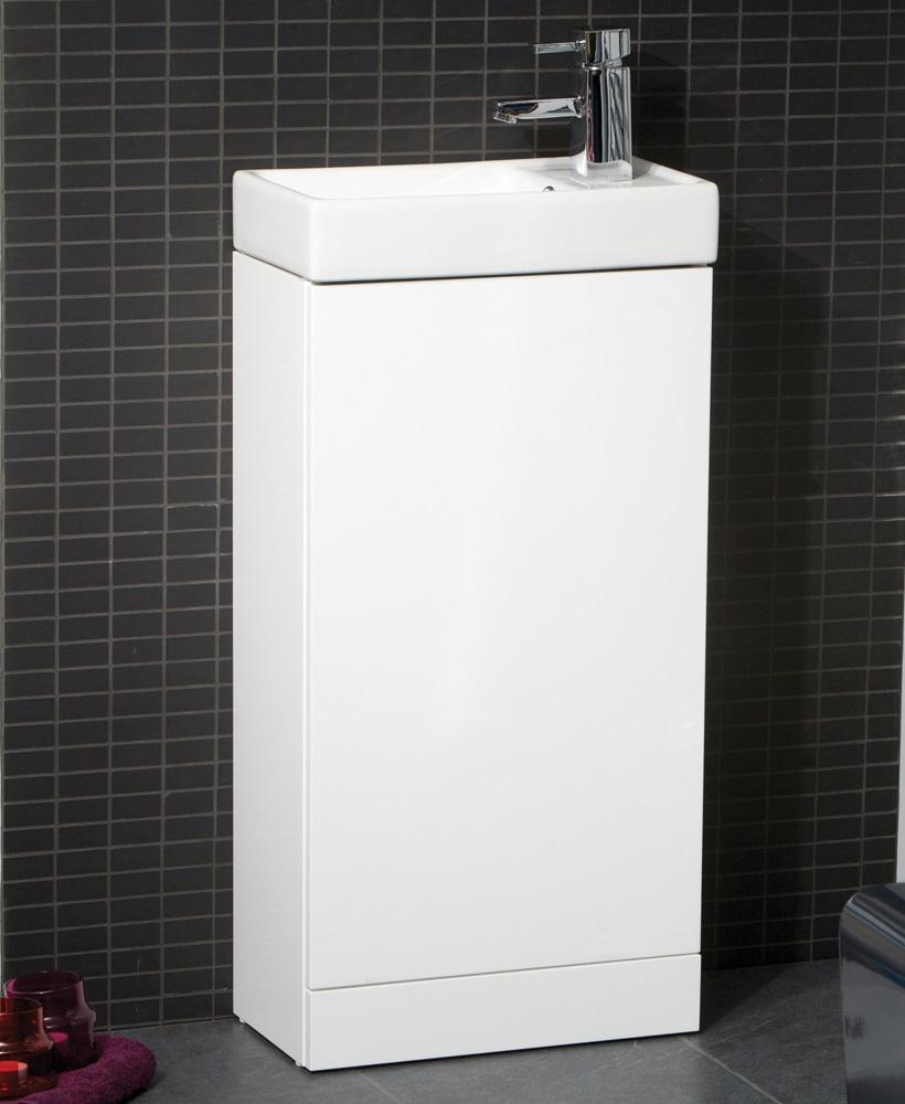 basle 40cm white floor standing unit. Black Bedroom Furniture Sets. Home Design Ideas