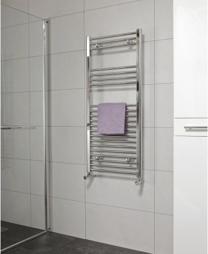 Straight 1200x500 Heated Towel Rail Chrome