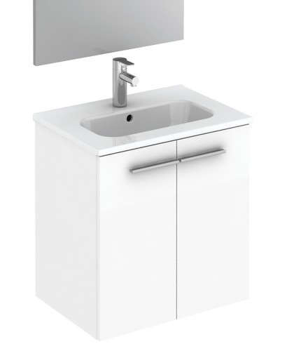 Paris 50 white floor standing vanity unit and mirror pack for Floor vanity mirror