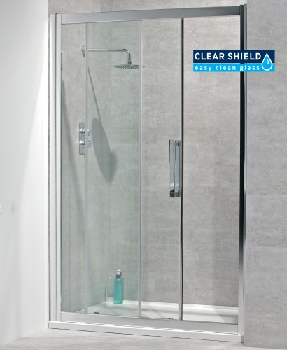 Aktive 8mm 1200 Sliding Shower Door - Adjustment 1140-1200mm