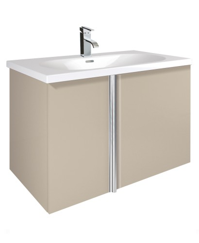 Avila Taupe 80cm Vanity Unit 2 Door and Idea Basin