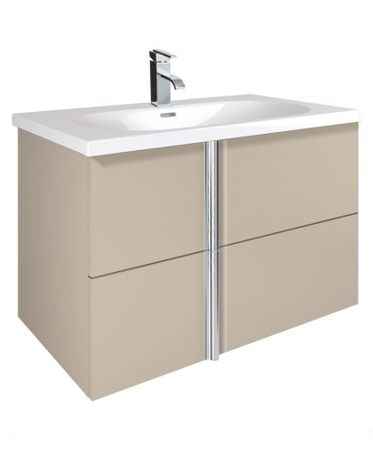 Avila Taupe 80cm Vanity Unit 2 Drawer and Idea Basin