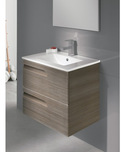 Brava Ash 60cm Vanity Unit 2 Drawer and Basin