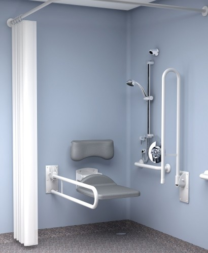 Inta Doc M Shower Pack Exposed Valve - Blue Rails