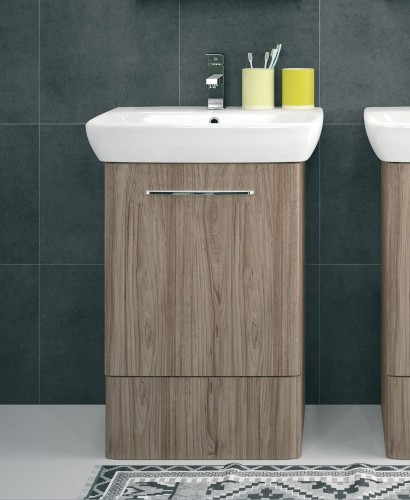 E100 550 grey ash vanity unit floor standing for Floor standing bathroom furniture